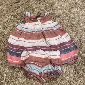 Striped Tea Collection baby dress 3-6M